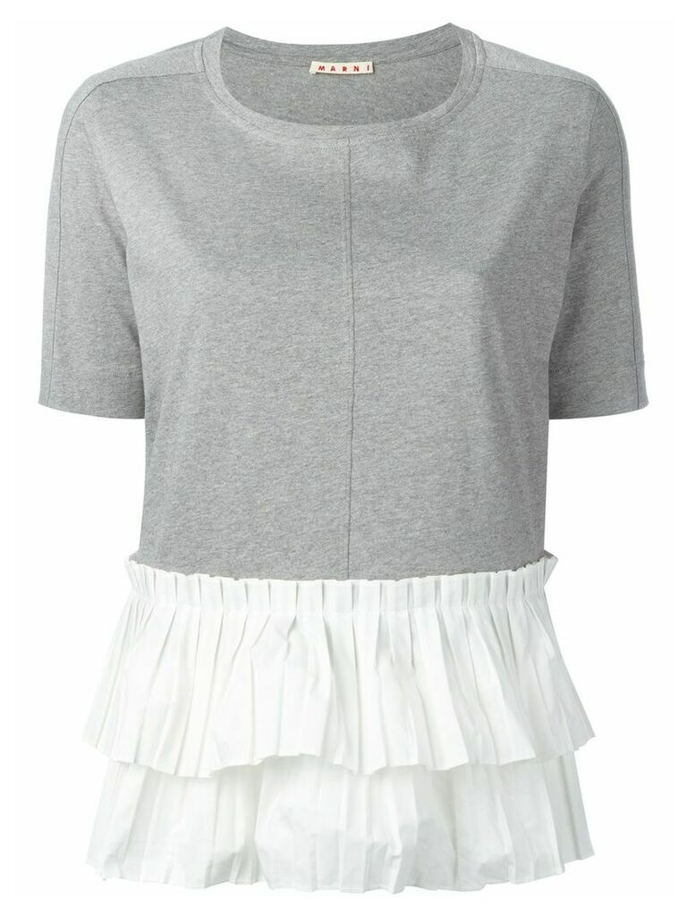Marni pleated T-shirt - Grey