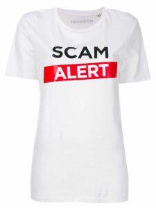Manokhi Scam Alert T-shirt - White