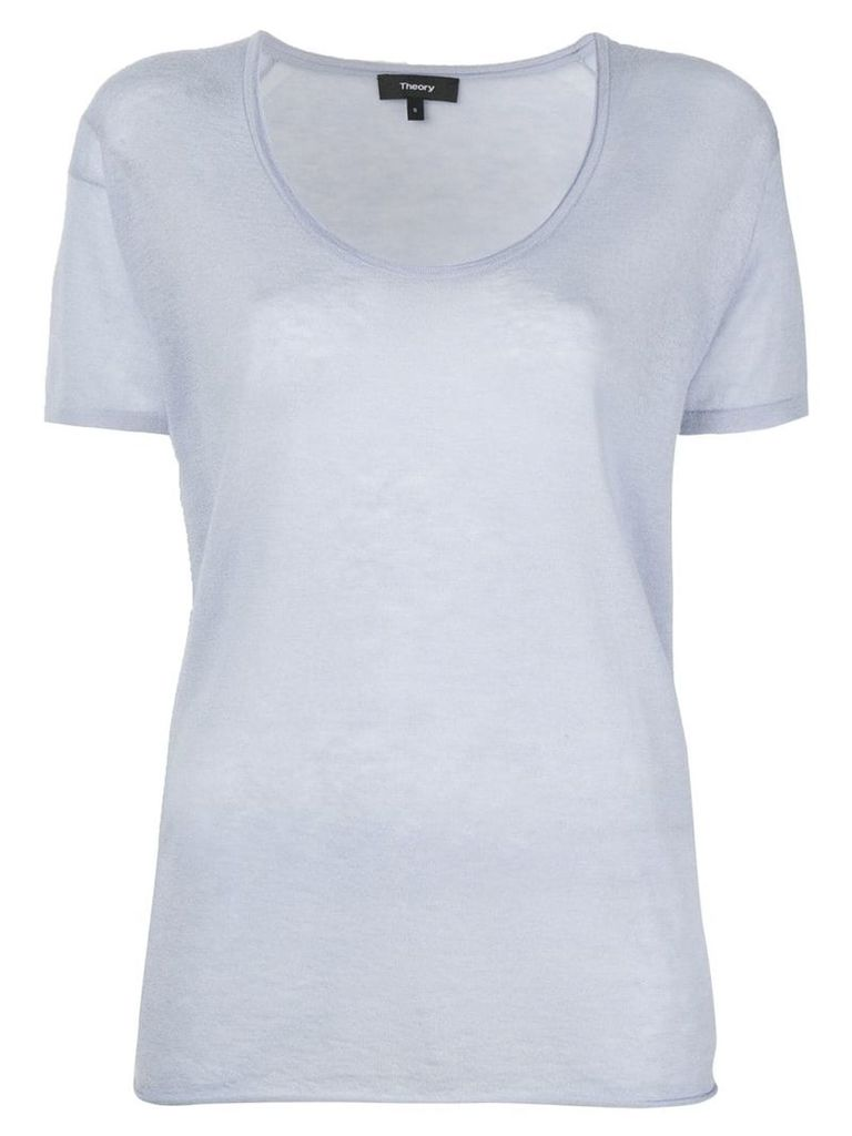 Theory U-neck T-shirt - Blue