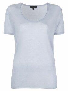 Theory U-neck T-shirt - Blue