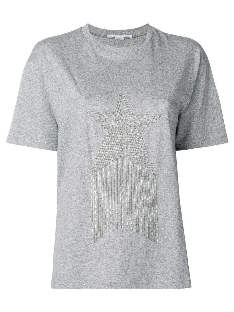 Stella McCartney embellished star T-shirt - Grey