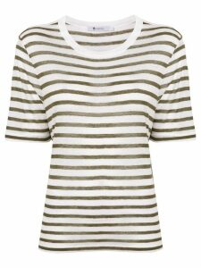 T By Alexander Wang striped short sleeve T-shirt - White
