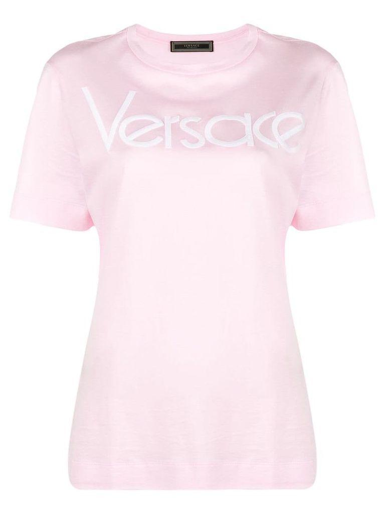 Versace logo print t-shirt - Pink