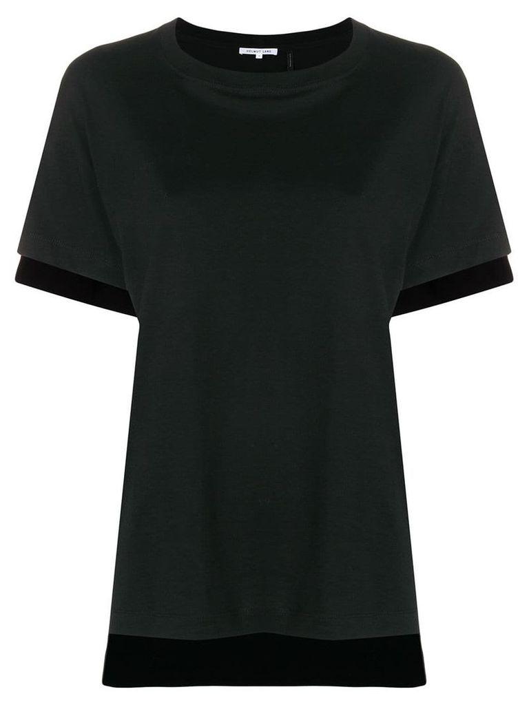 Helmut Lang contrast hem T-shirt - Black