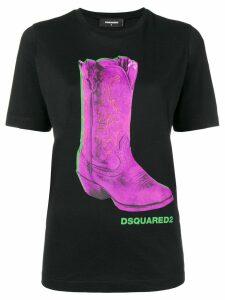 Dsquared2 Boot print T-shirt - Black