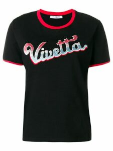 Vivetta Alnair embroidered T-shirt - Black