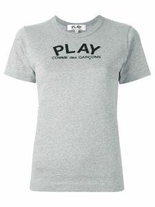 Comme Des Garçons Play logo print T-shirt - Grey