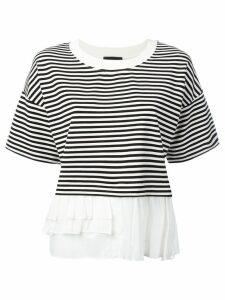 Boutique Moschino frill trim T-shirt - Black