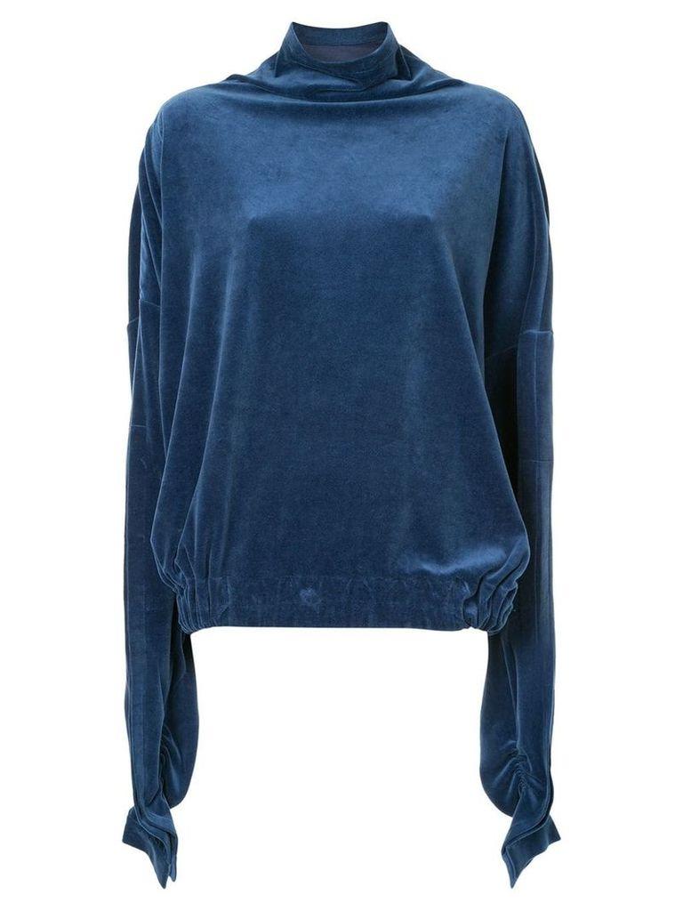 Paula Knorr draped top - Blue