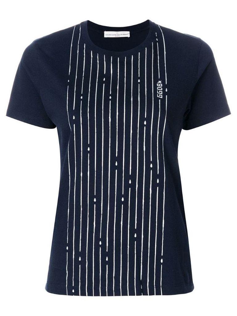 Golden Goose Golden striped T-shirt - Blue