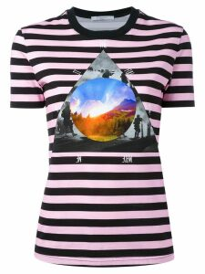 Givenchy stripe 'Full Moon' T-shirt - Purple