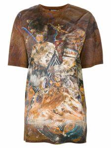 Balmain printed T-shirt - Brown