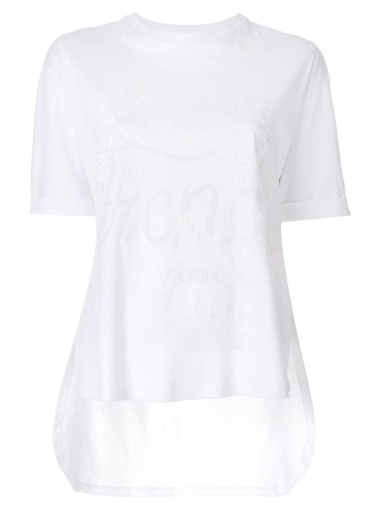 Fendi embroidered logo T-shirt - White