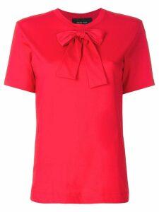 Simone Rocha bow detail T-shirt - Red