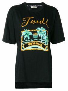 Fendi embellished T-shirt - Black
