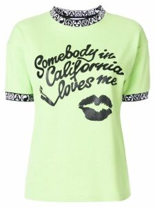 1017 ALYX 9SM quote print and embroidered detail T-shirt - Green