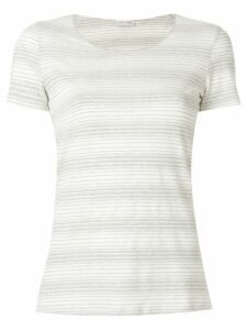 Le Tricot Perugia striped short-sleeve top - Grey