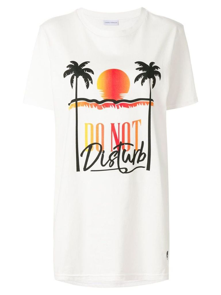 Chiara Ferragni palm beach T-shirt - White