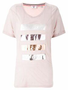 Rossignol laminated striped T-shirt - Pink