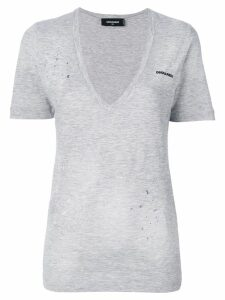 Dsquared2 low V-neck T-shirt - Grey
