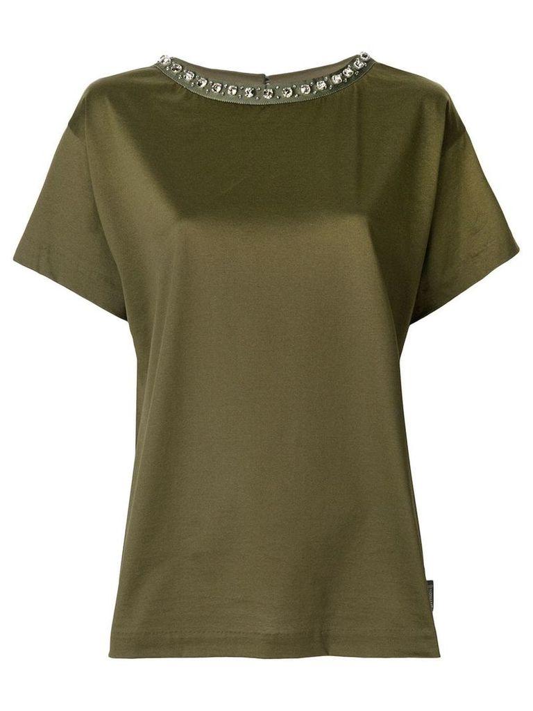 Moncler embellished collar T-shirt - Green