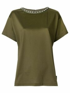 Moncler embellished collar T-shirt - Green
