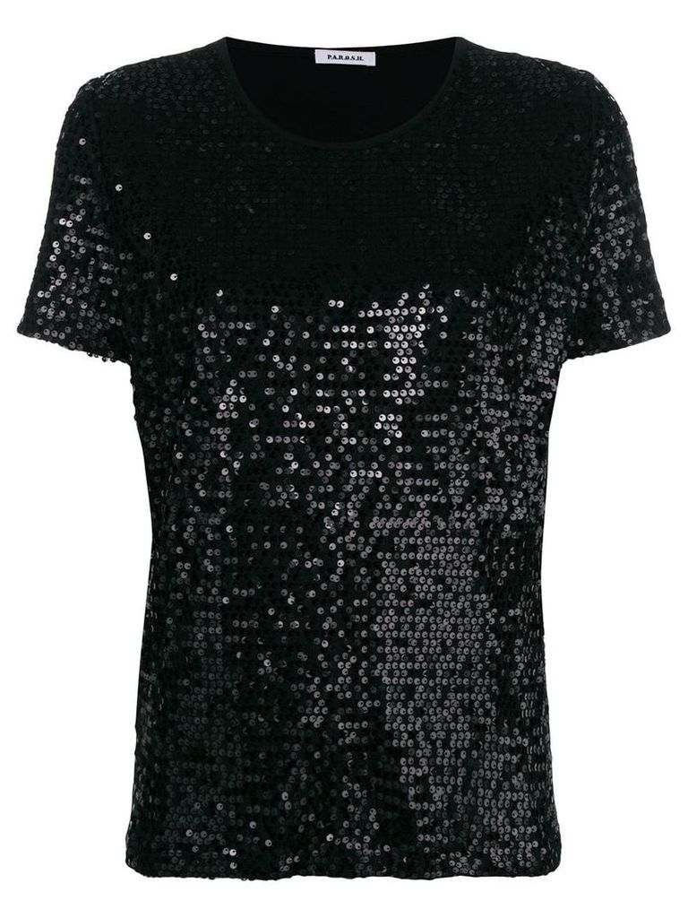 P.A.R.O.S.H. sequin T-shirt - Black