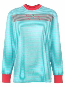 Proenza Schouler PSWL Stripe Mockneck Long Sleeve T-Shirt -