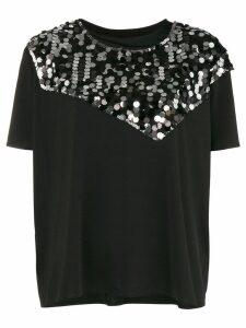 Mm6 Maison Margiela sequin T-shirt - Black