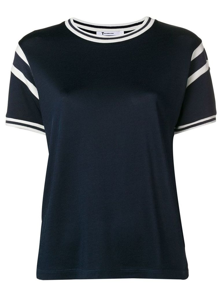 T By Alexander Wang paneled T-shirt - Blue
