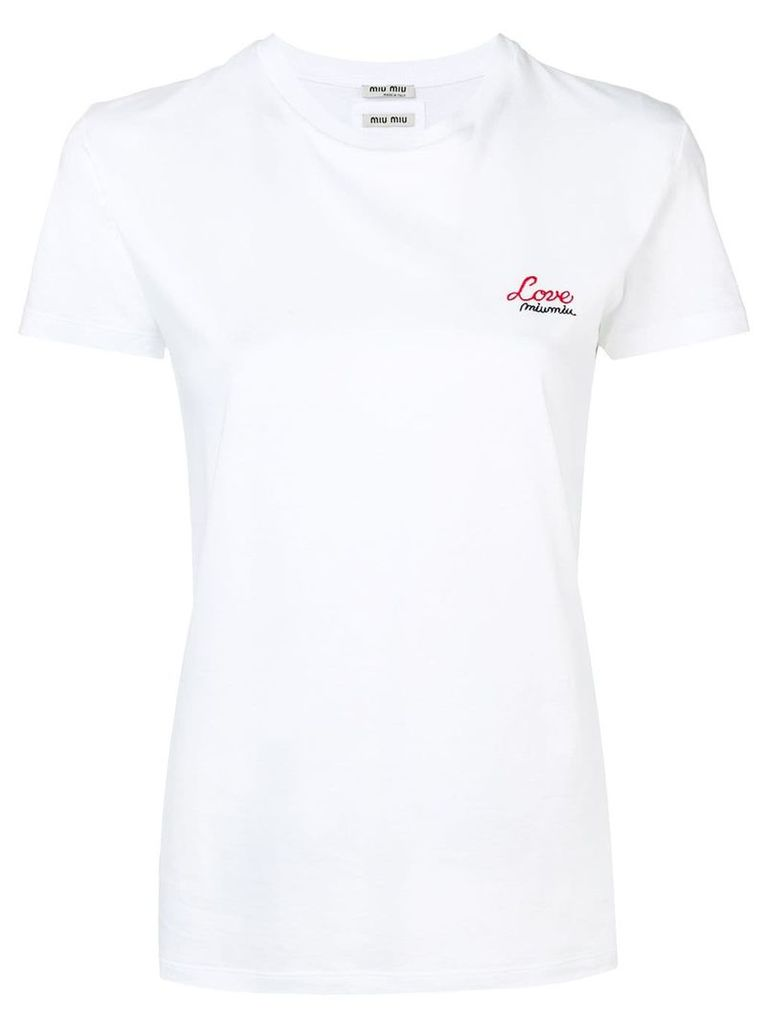 Miu Miu embroidered T-shirt - White