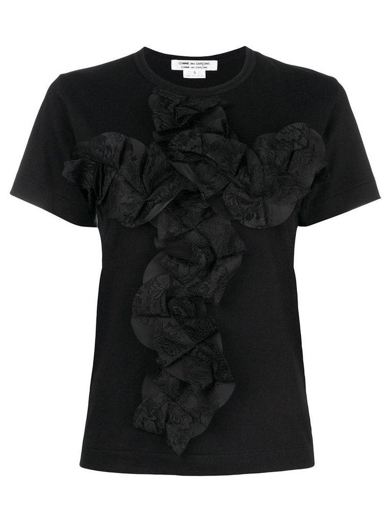 Comme Des Garçons Comme Des Garçons folded lace front T-shirt - Black