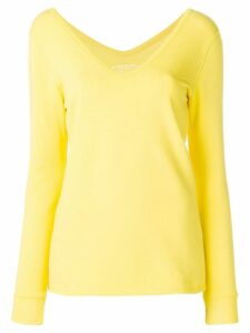 Majestic Filatures wide V-neck top - Yellow