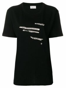 Saint Laurent printed text T-shirt - Black