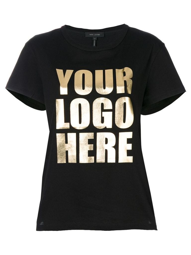 Marc Jacobs Your Logo Here T-shirt - Black