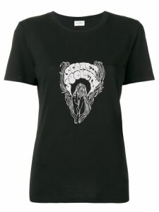 Saint Laurent Secret Society print T-shirt - Black