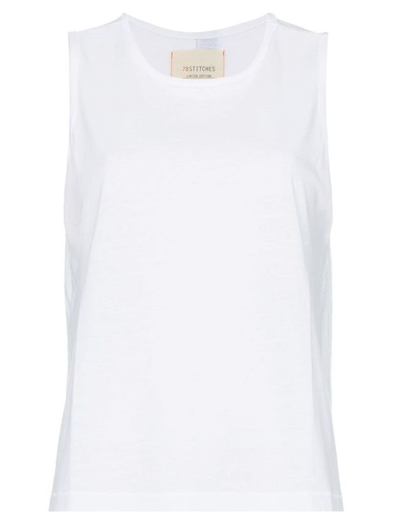 78 Stitches sleeveless tank top - White