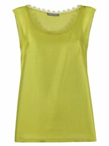 Alberta Ferretti lace trim tank top - Green