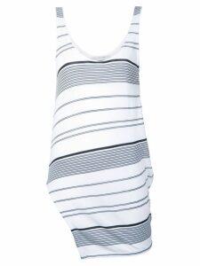 Stella McCartney striped asymmetric top - White