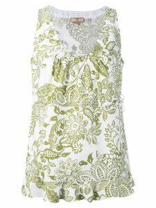 Fay floral print tank top - White