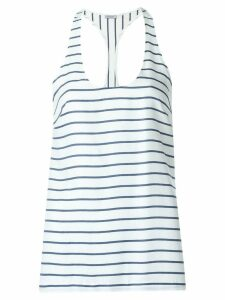 Tufi Duek racerback striped top - Blue