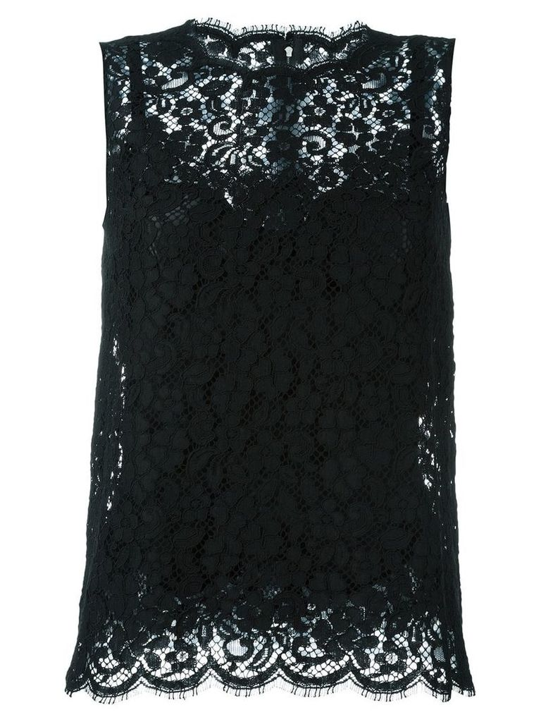 Dolce & Gabbana lace tank top - Black