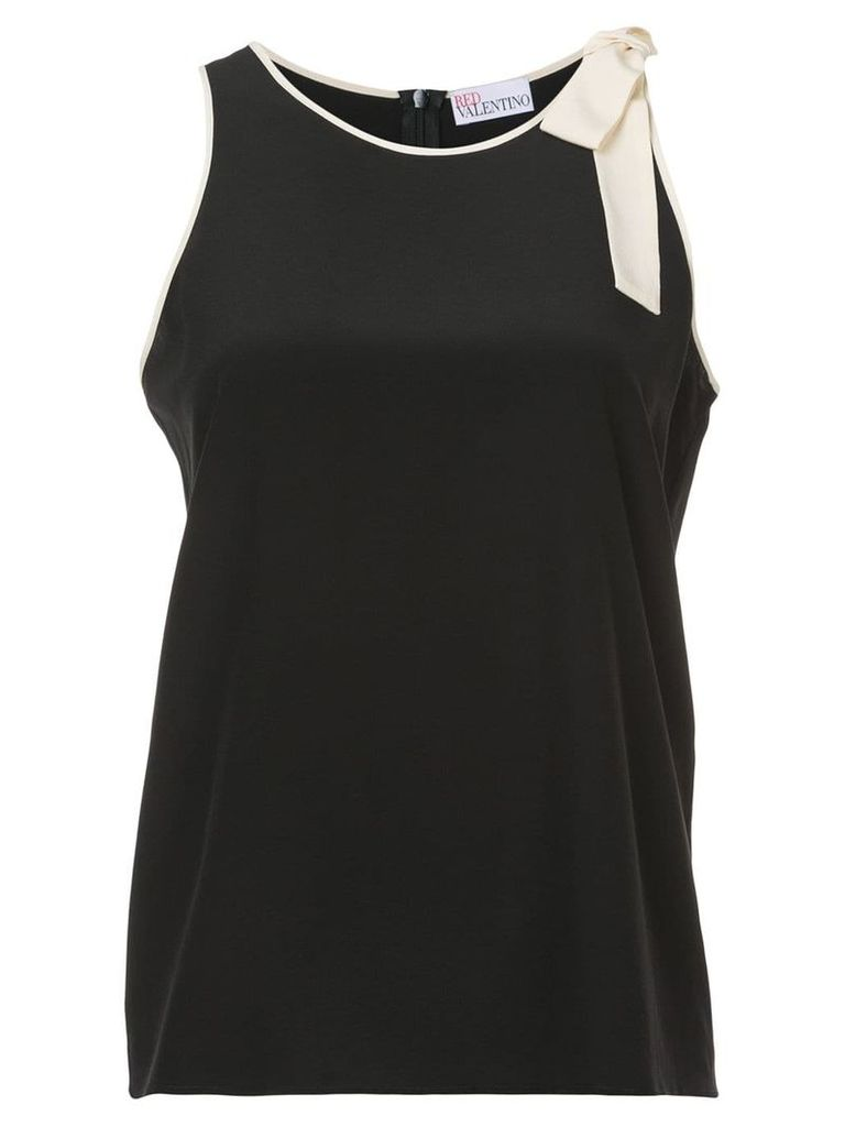 Red Valentino lace trim tank top - Black