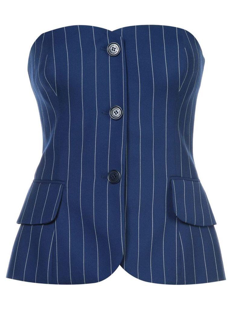 Ralph Lauren Collection pinstripe corset top - Blue