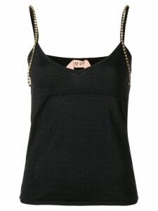 Nº21 embellished strap vest top - Black