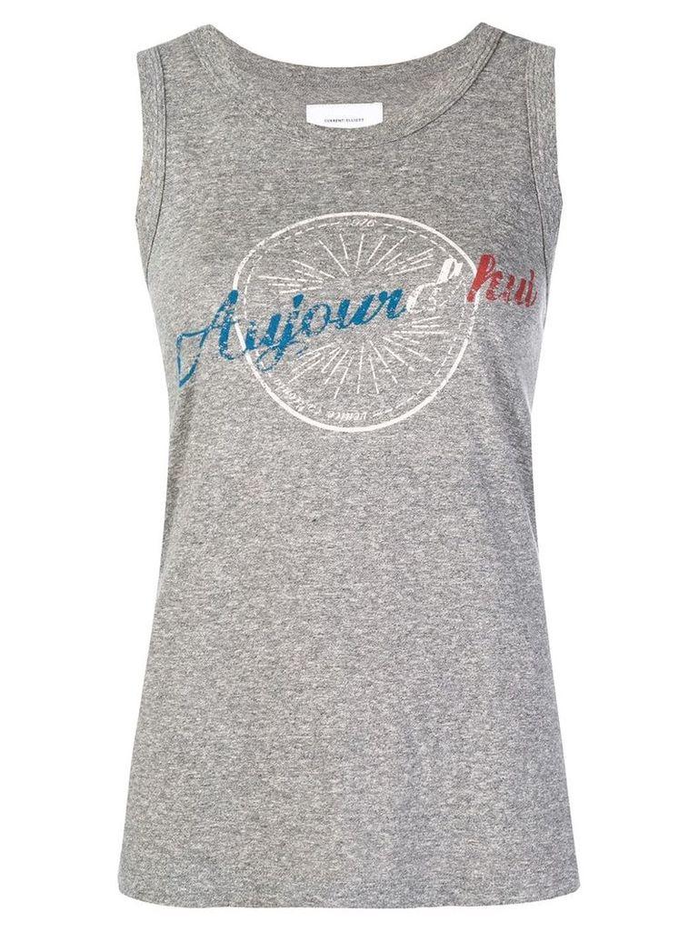 Current/Elliott printed vest top - Grey
