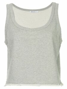 T By Alexander Wang cropped fitted tank top - Grey