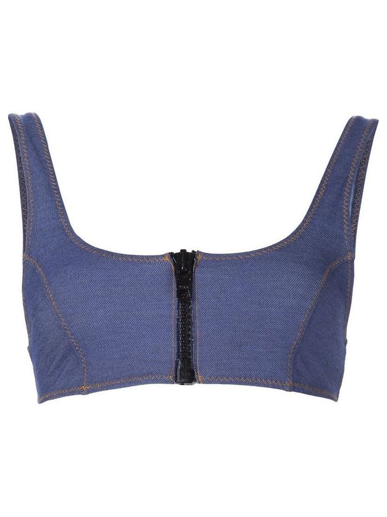 Lisa Marie Fernandez 'Jasmine' heathered bra top - Blue