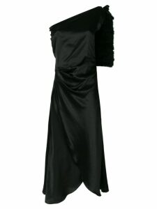 Maguy De Chadirac one-shoulder night dress - Black