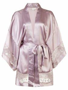 Fleur Du Mal Chateau kimono robe - Pink